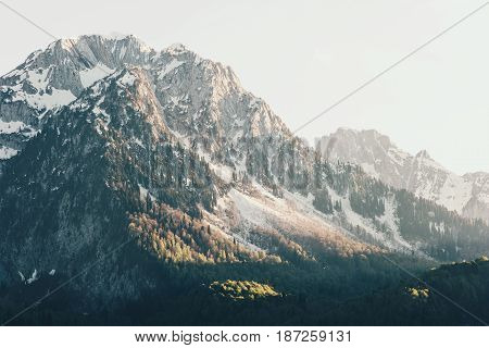 Rocky Mountains Landscape Travel view serene scenery wild nature calm summer atmospheric scene aerial view