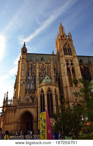 Cathedral Saint-Etienne of Metz during Patrimony days on september 2016 16th