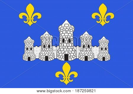 Flag of Chateau-Thierry is a French commune in department of the Aisne in the administrative region of Hauts-de-France and in the historic Province of Champagne.