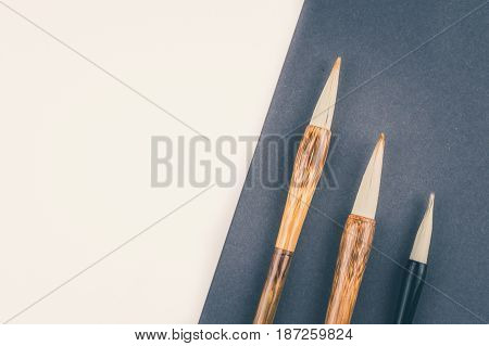 Chinese Calligraphy Brush For Traditional Writing. Top View