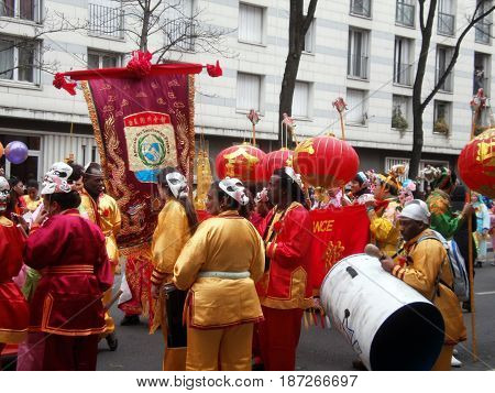 Chinese new year parade in Paris, february 2011 6th