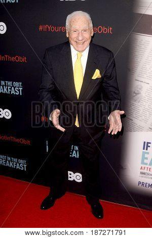 LOS ANGELES - MAY 17:  Mel Brooks at the