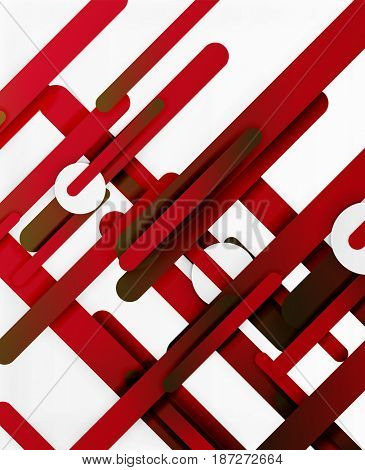 Cut 3d paper color straight lines abstract background