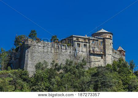 Ancient Castle At Portofino, Italy.