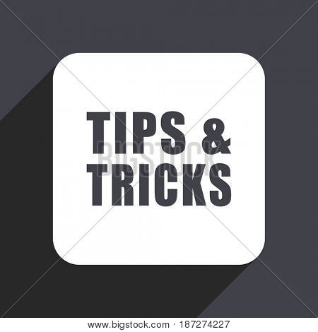 Tips tricks flat design web icon isolated on gray background