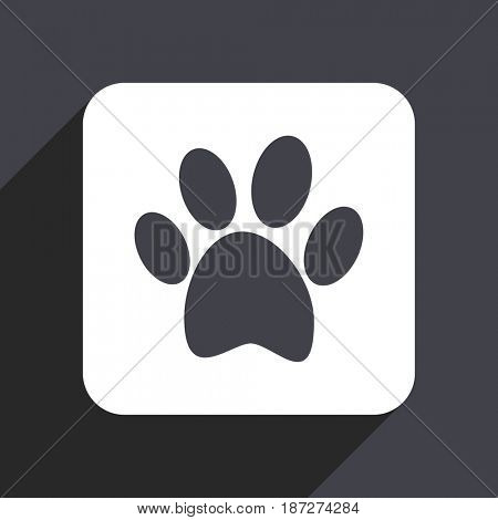 Foot flat design web icon isolated on gray background