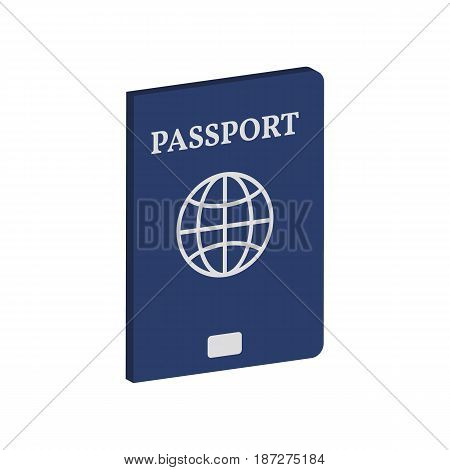 Passport Symbol. Flat Isometric Icon Or Logo. 3D Style Pictogram For Web Design, Ui, Mobile App, Inf
