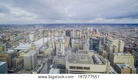 Aerial view over the city of Philadelphia - PHILADELPHIA - PENNSYLVANIA