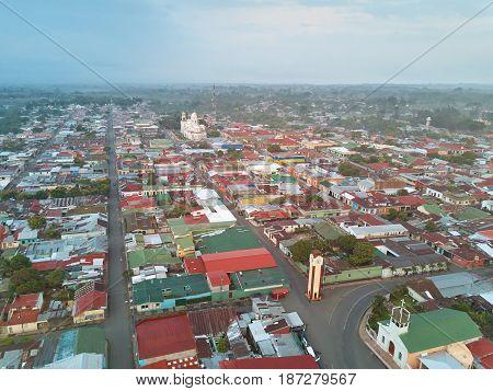 Panoramic View On Diriamba Town
