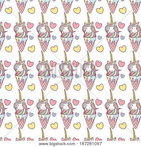 beautiful unicorn play trumpet instrument background, vector illustration