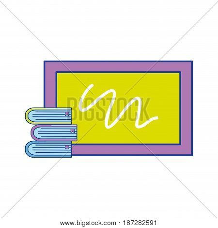 school board with books tools study, vector illustration