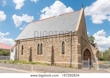 NOUPOORT SOUTH AFRICA - JANUARY 6 2015: The historic old St Andrews Presbyterian Church built circa 1903 now a museum