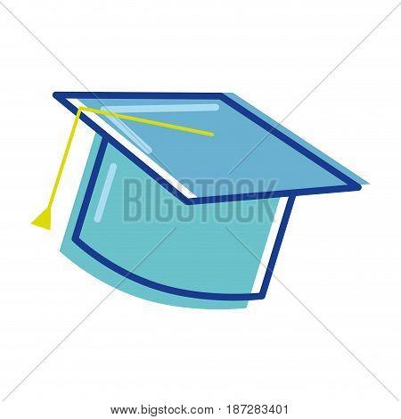 graduation cap tool to traditional ceremony, vector illustration
