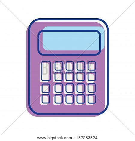 calculator tool to study and learn mathematica, vector illustration