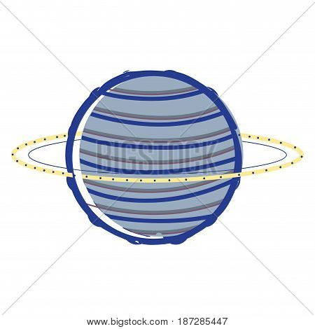 exploration neptune planet in the galaxy space, vector illustration
