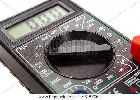 Mode Switch Of A Digital Multimeter Closeup