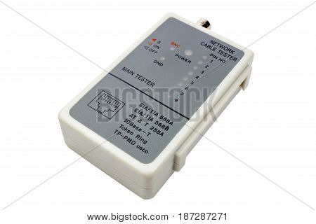 Network Cable Tester Isolated On A White Background