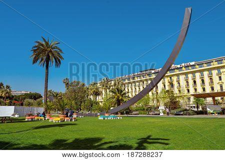 Arc De Venet, Metal Sculpture By Bernar Venet