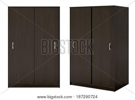 Wardrobe With Closed Sliding Doors