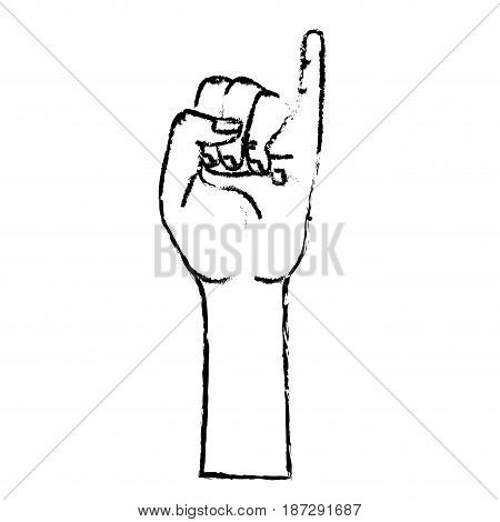 figure cute hand with pinky up symbol, vector illustration
