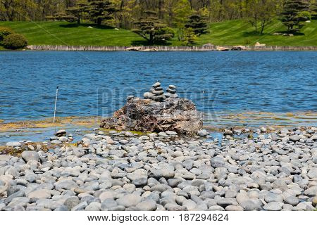 Rocks Stacked Precariously On Top Of One Another