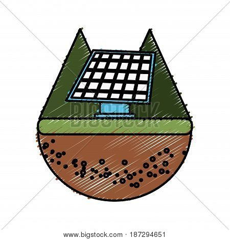 solar energy to care ecology and planet, vector illustration