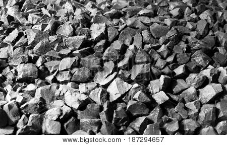 Small Coals Texture In Black And White