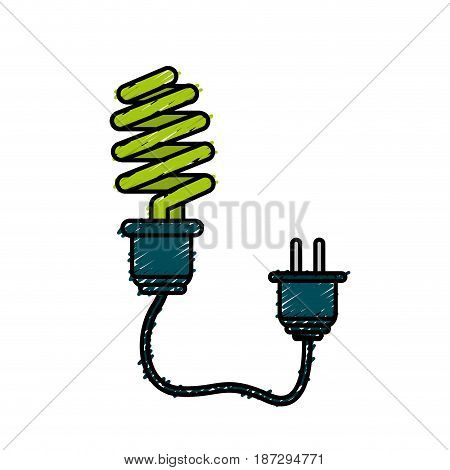 save bulb with power cable, vector illustration design