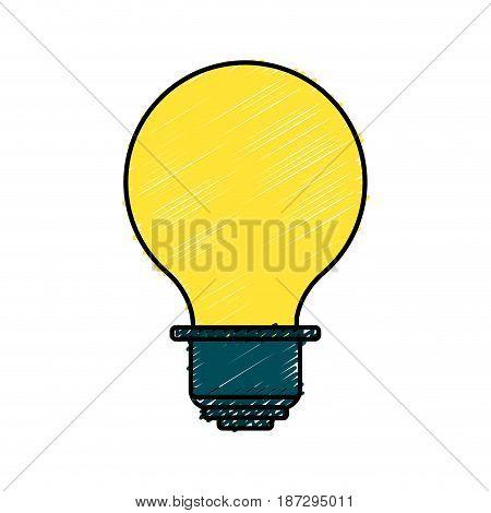 energy light bulb icon, vector illustration design