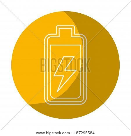 sticker battery power electric digital charge, vector illustration