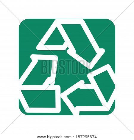 label reduce, recycle and reuse environment symbol, vector illustration