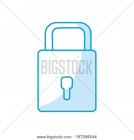 silhouette padlock to have sacurity the special thing, vector illustration