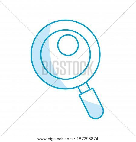 silhouette magnifying glass tool to search and read, vector illustration