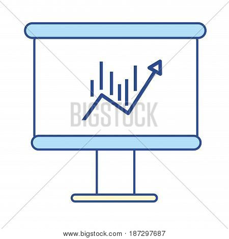 board with statistic arrow up to financial business, vector illustration