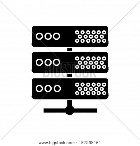 contour digital router to connect data center, vector illustration
