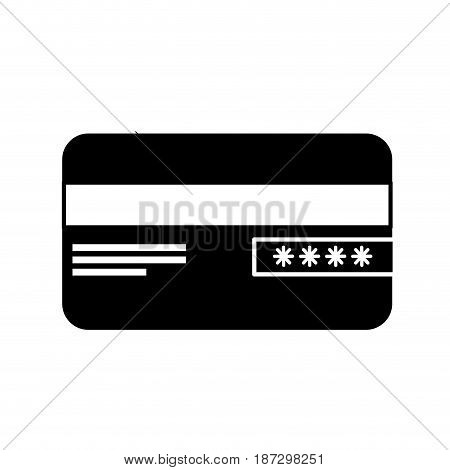 contour credit card financial and security transaction, vector illustration