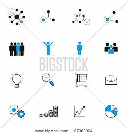 business management icons set vector illustration Idea