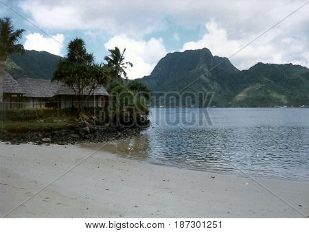 A beach on Tutuila Island in American Samoa.