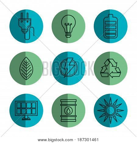 Hand drawn eco friendly object icons over white background. Vector illustration.
