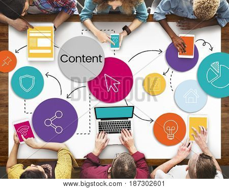 Web Content Layout Design Graphic Word