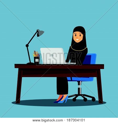 business women People DeskVector illustration cartoon character