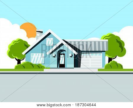 Background image of dream house home Single storey house