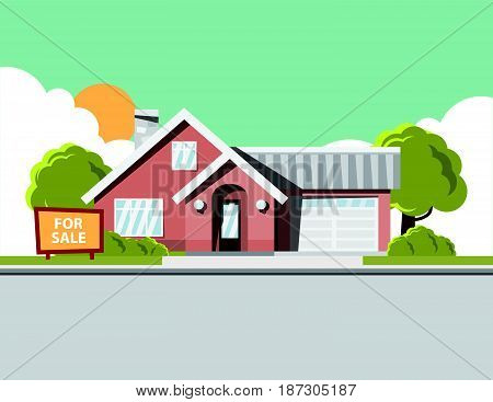 Background image of dream house sale home