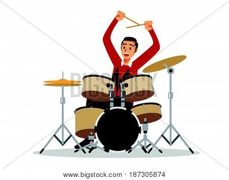 drum kit and drummer (drums instruments musical)