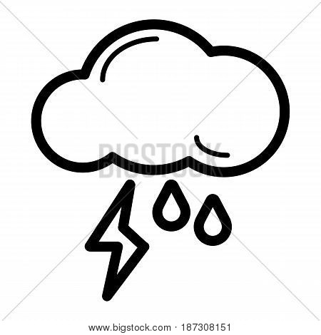 weather storm button. isolated on white. eps 10