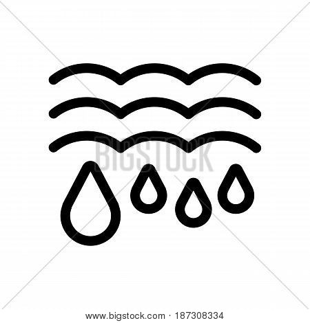 Water drops and waves icon. Falling drops Vector Illustration. thaw isolated on white. eps 10