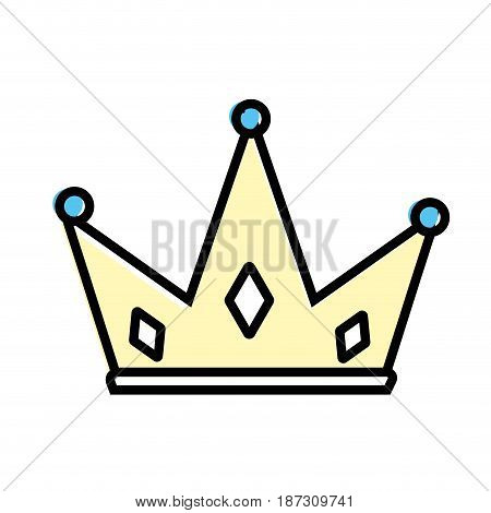 nice crown of king to glory and pawer, vector illustration