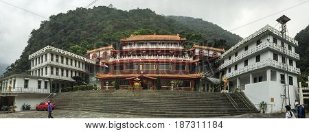 Chinese Temple On The Mountain In Taiwan