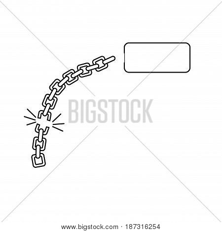 line good metal chain to protect something, vector illustration