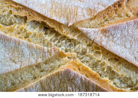 Fresh loaf of bread closeup. Shallow DOF.